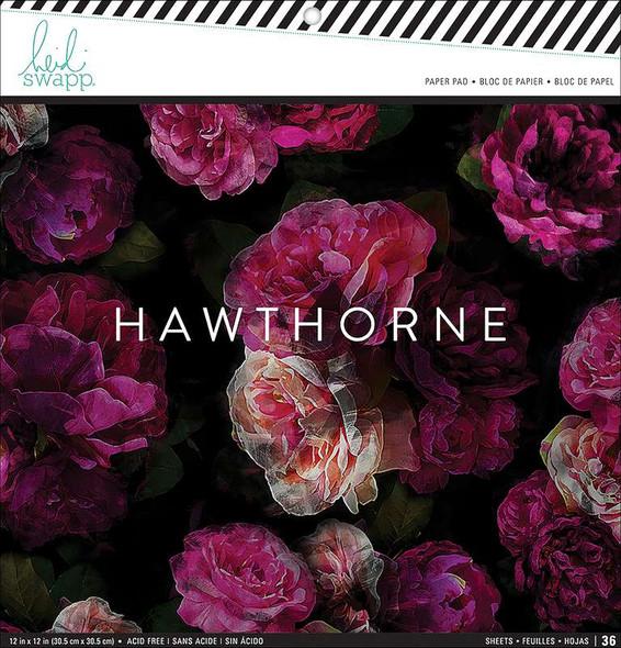 "Heidi Swapp Single-Sided Paper Pad 12""X12"" 36/Pkg Hawthorne"