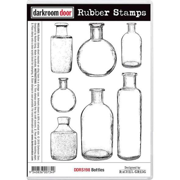 """Darkroom Door Cling Stamps 7""""X5""""-Bottles"""