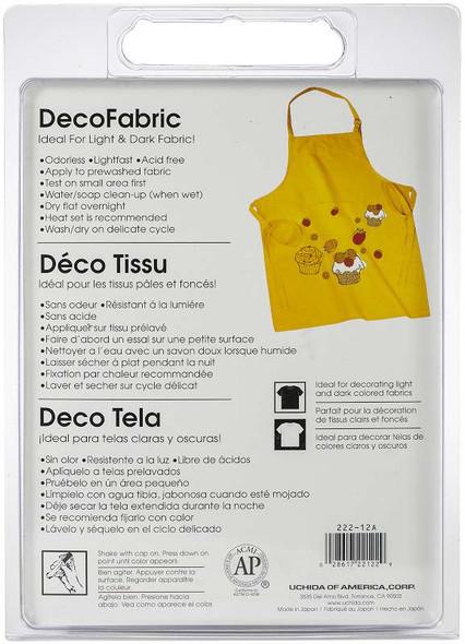 DecoFabric Marker Set 12/Pkg Assorted Colors