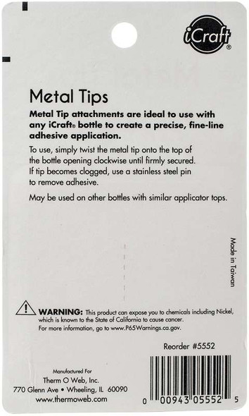 iCraft Metal Tips 2/Pkg For Liquid Adhesives