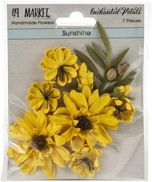 49 And Market Enchanted Petals 7/Pkg Sunshine