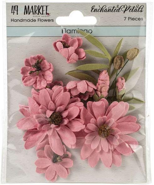 49 And Market Enchanted Petals 7/Pkg Flamingo