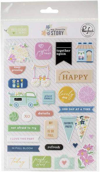Pinkfresh Puffy Stickers   My Favorite Story