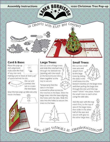 Karen Burniston Dies Christmas Tree Pop-Up