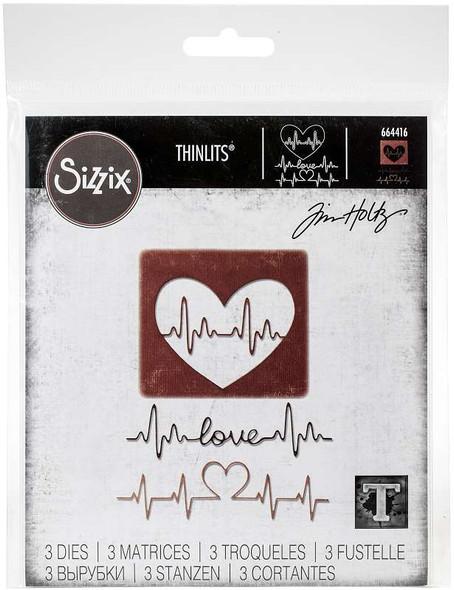 Sizzix Thinlits Dies By Tim Holtz Heartbeat