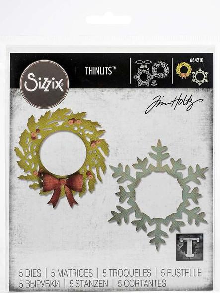 Sizzix Thinlits Dies By Tim Holtz Wreath & Snowflake