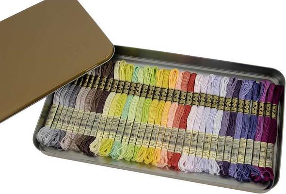 DMC Embroidery Floss Tin 8.7yd 35/Pkg New Colors