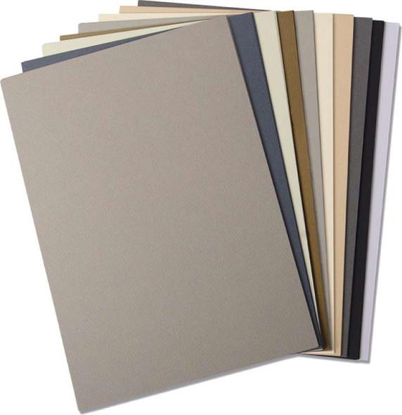Sizzix Textured Cardstock Sheets A4 60/Pkg Assorted Colors-Neutrals