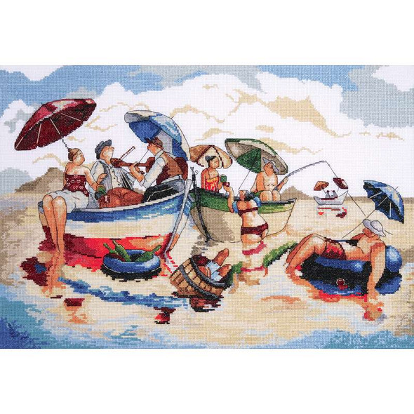 """Water Lunch Counted Cross Stitch Kit 14""""X20"""" 14 Count"""