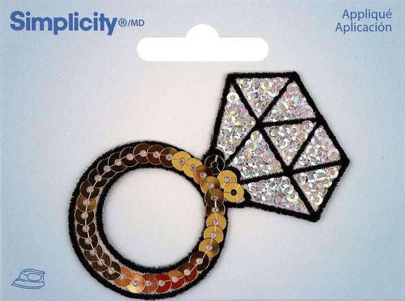 Wrights Sequin Iron-On Applique Diamond Ring