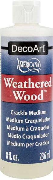 Weathered Wood Crackling Medium 8oz Brown