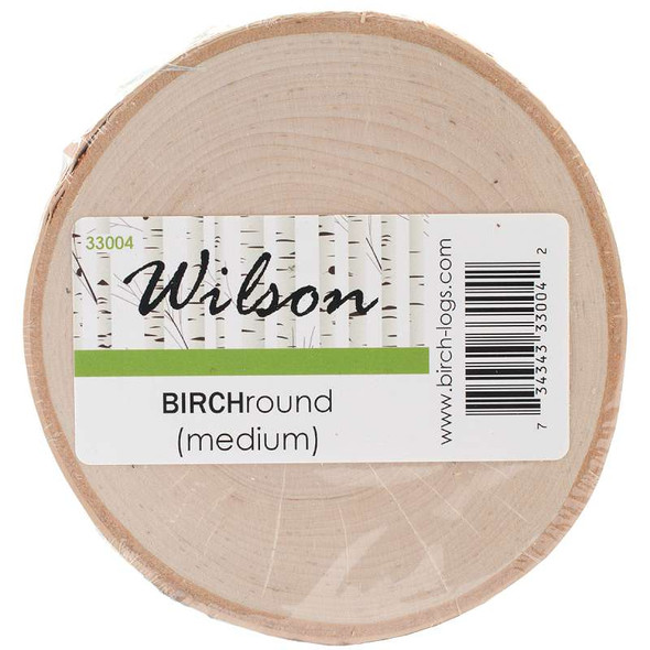 "Natural White Birch Rounds Medium 4"" To 6"""
