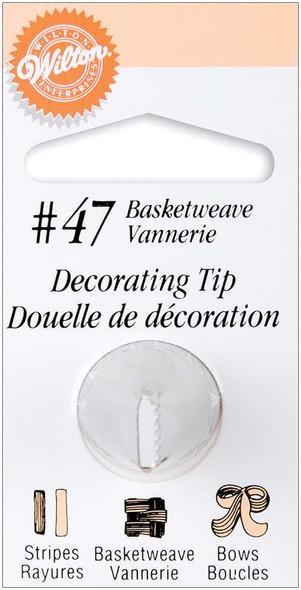 Decorating Tip #47 Basketweave