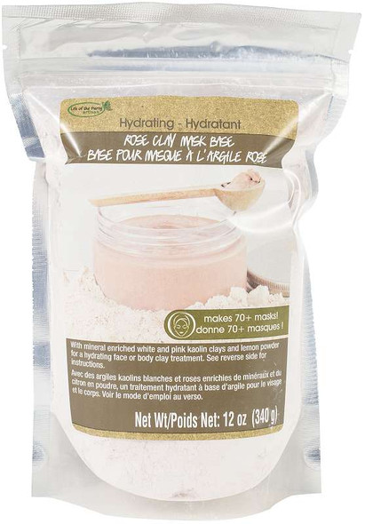 Clay Mask Bases 12oz Hydrating: Rose