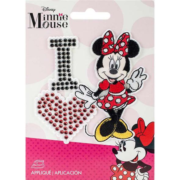 Disney Mickey Mouse Iron-On Applique I Love Minnie