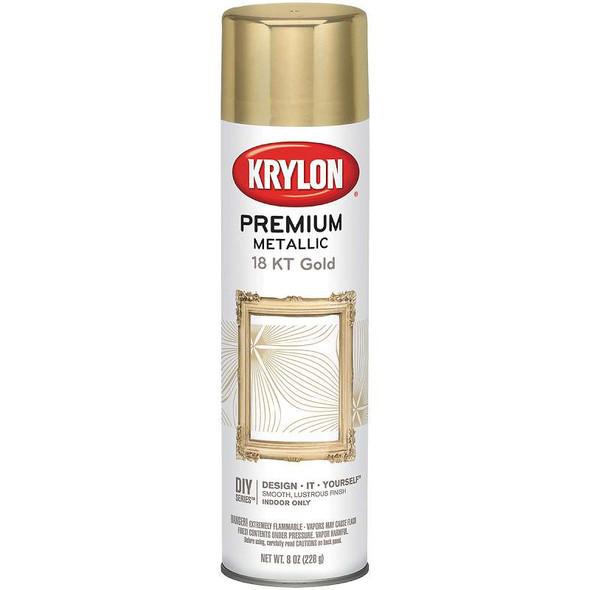 Metallic Spray Paint 8oz 18 Karat Gold