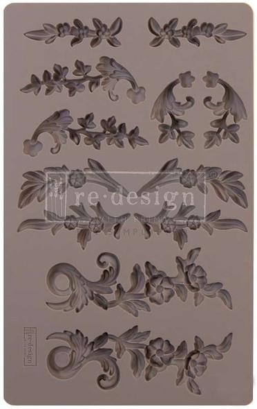 """Prima Marketing Re-Design Mould 5""""X8""""X8mm Delicate Flora"""