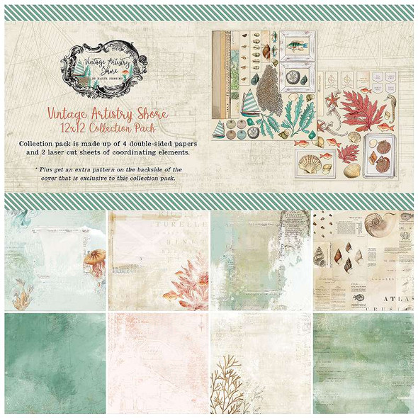 """49 And Market Collection Pack 12""""X12"""" Vintage Artistry Shore"""