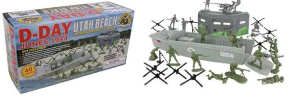 54mm D-Day Utah Beach Diorama Playset (Boxed) (BMC Toys) (Re-Issue)