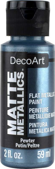 Americana Acrylic Matte Metallics 2oz Pewter