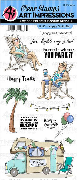 Art Impressions Work & Play Clear Stamps Happy Trails