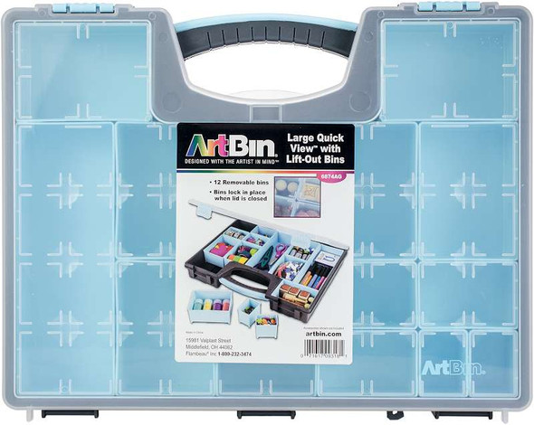 Artbin Large Quick View W/Removable Bins 13 Bins