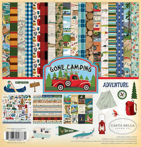 """Carta Bella Collection Kit 12""""X12"""" Gone Camping"""