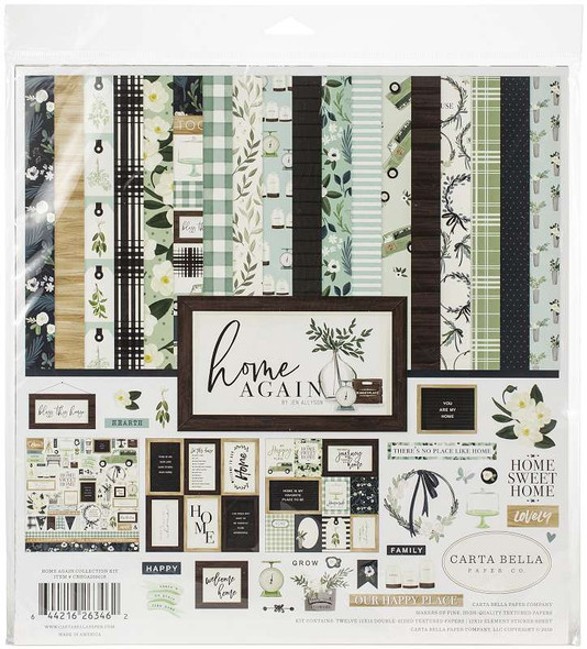 "Carta Bella Collection Kit 12""X12"" Home Again"