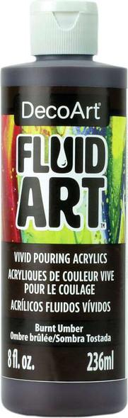 DecoArt FluidArt Ready-To-Pour Acrylic Paint 8oz Burnt Umber
