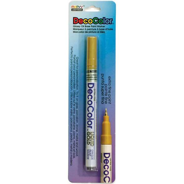 DecoColor Extra Fine Metallic Opaque Paint Marker Liquid Gold