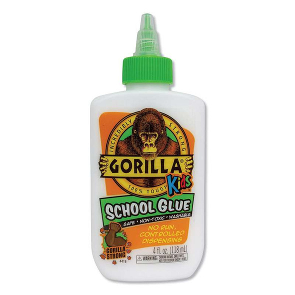 Gorilla Glue® School Glue Liquid, 4 oz, Dries Clear, 6/Pack