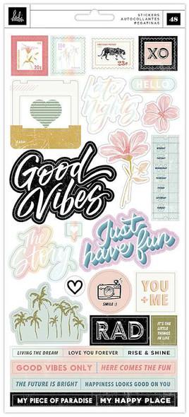 Heidi Swapp Old School Cardstock Stickers 48/Pkg W/Iridescent Foil