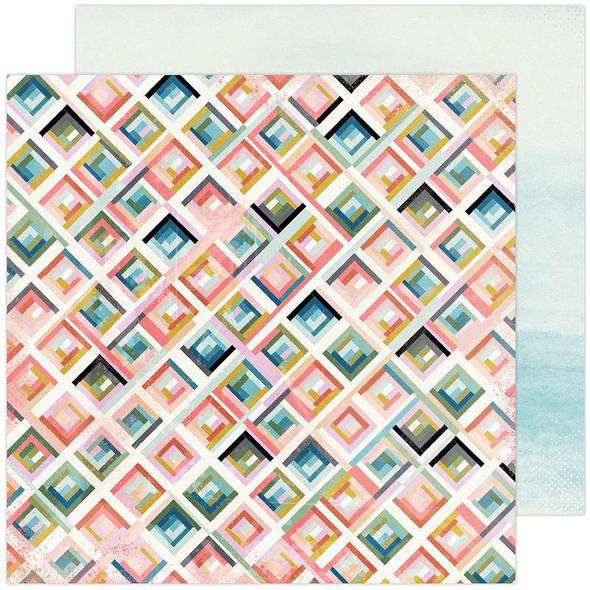 "Heidi Swapp Old School Double-Sided Cardstock 12""X12"" City Grid"