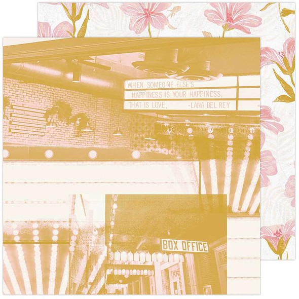 "Heidi Swapp Old School Double-Sided Cardstock 12""X12"" Matinee"