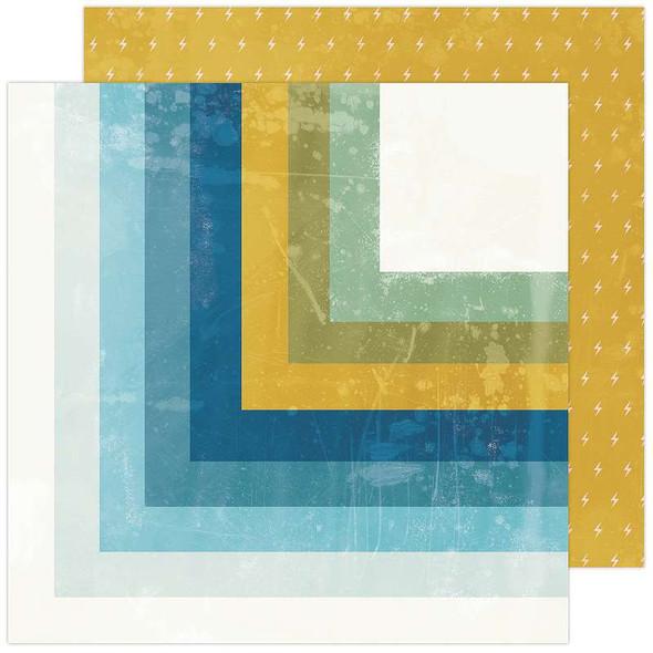 "Heidi Swapp Old School Double-Sided Cardstock 12""X12"" Summerland"