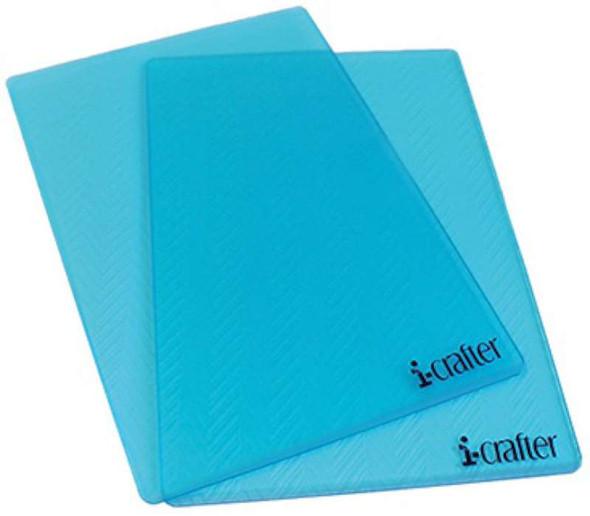 "i-crafter Cutting Decks 2/Pkg Translucent 6""X9"""