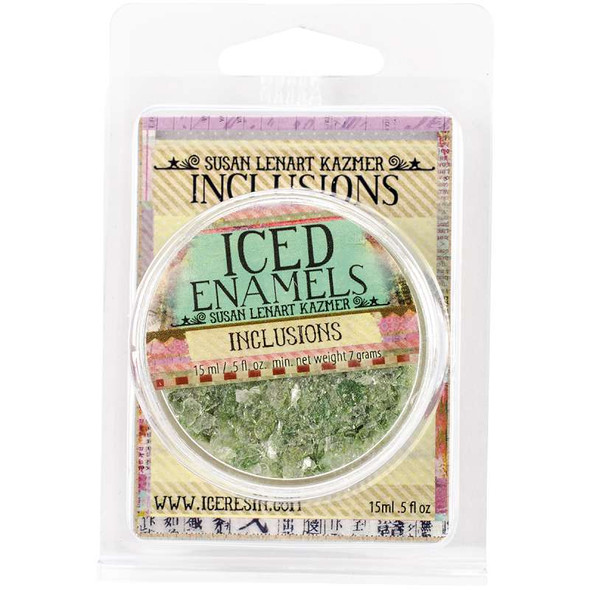 Iced Enamels Inclusions Mica .5oz Chartreuse