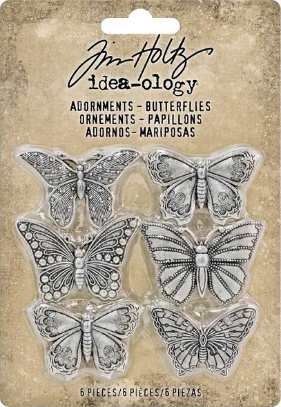 "Idea-Ology Metal Adornments 1"" 6/Pkg Butterflies"