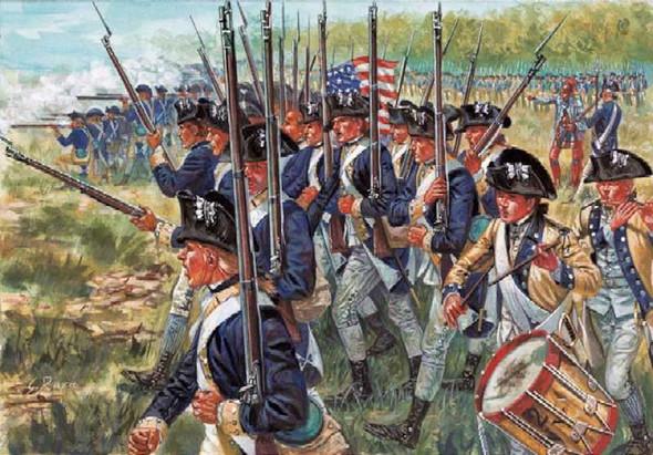 Italeri 1/72 American Revolution Infantry Set 6060S