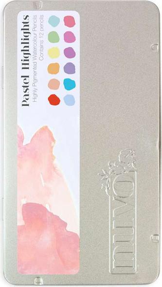 Nuvo Watercolor Pencils 12/Pkg Pastel Highlights