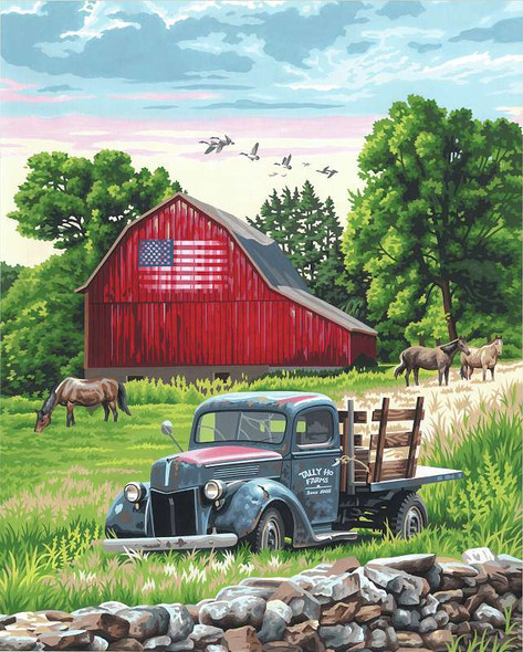 """Paint Works Paint By Number Kit 16""""X20"""" Summer Farm"""
