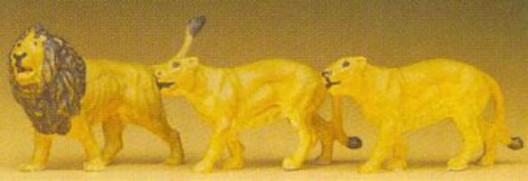 Preiser kg Lions -- Model Railroad Figures -- HO Scale -- #20379