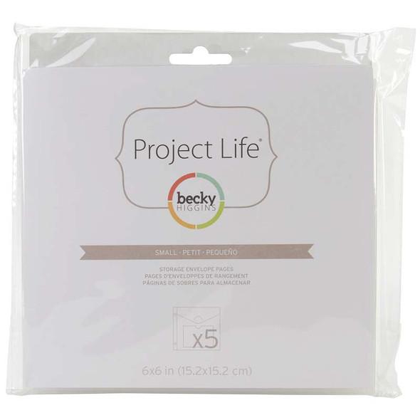 """Project Life Big Envelope Pages 6""""X6"""" 5/Pkg"""