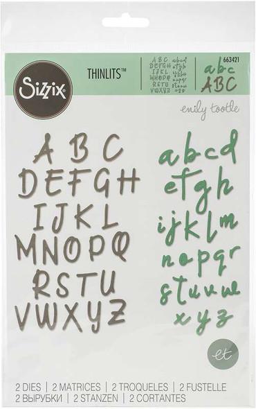 Sizzix Bigz Die By Emily Tootle Alphabet Set