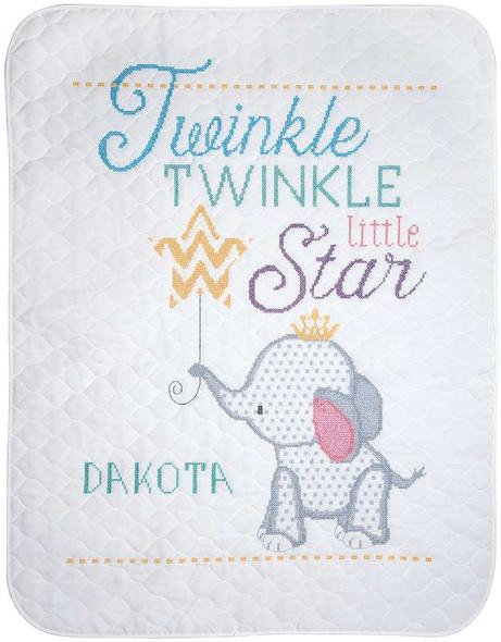 """Twinkle Twinkle Little Star Stamped Cross Stitch Kit 34""""X43"""""""