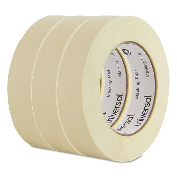 "Universal® General Purpose Masking Tape, 24mm x 54.8m, 3"" Core, 3/Pack"