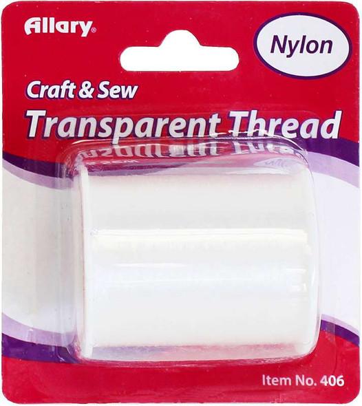Allary Transparent Nylon Thread 150yd Clear