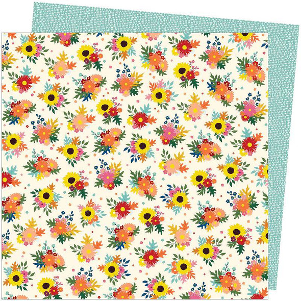 """Amy Tan Late Afternoon Double-Sided Cardstock 12""""X12"""" Bright Bouquets"""