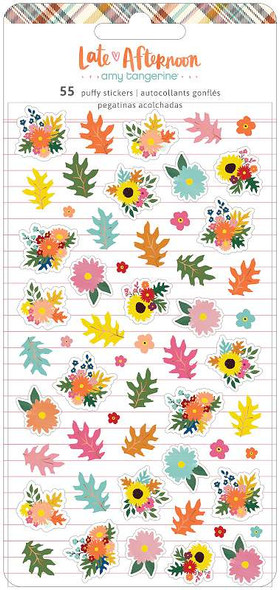 Amy Tan Late Afternoon Mini Puffy Stickers 55/Pkg W/Foil Accents