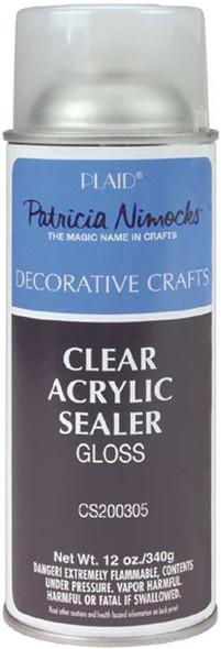 Clear Acrylic Sealer Aerosol Spray 12oz Gloss